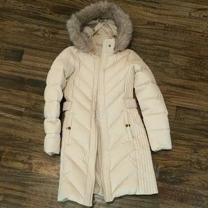 NEW Larry Levine down & feather long puffer coat